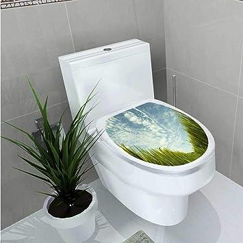 Muyindo Vinyl Aufkleber Grün Pflanzen In Die Erde Dekoration Badezimmer  WC W6 X L8 W14