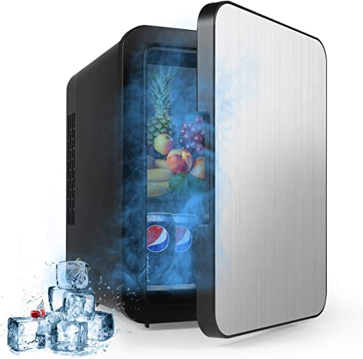 Black Offices AstroAI Mini Fridge 4 Liter//6 Can Portable AC//DC Powered Thermoelectric System Cooler and Warmer for Cars and Dorms Homes