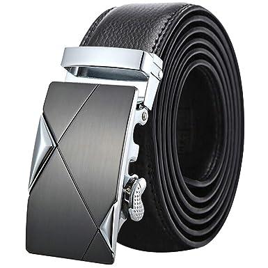 Cinturones Cuero Negro/marrón Grano Completo Hombres ...