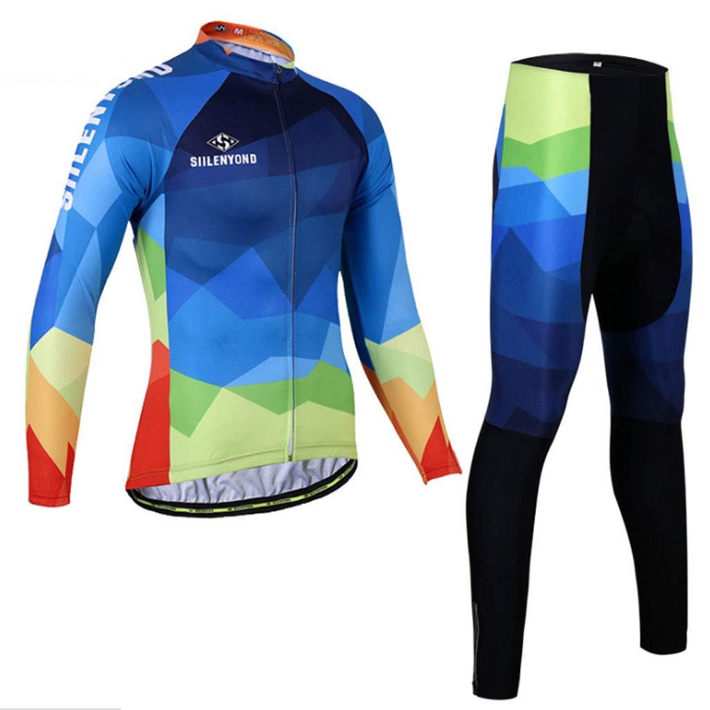 Lilongjiao Radfahren Langarm Anzug Frühling und Herbst Männer und Frauen Stil Mountainbike Hosen Radfahren Jersey Anzug