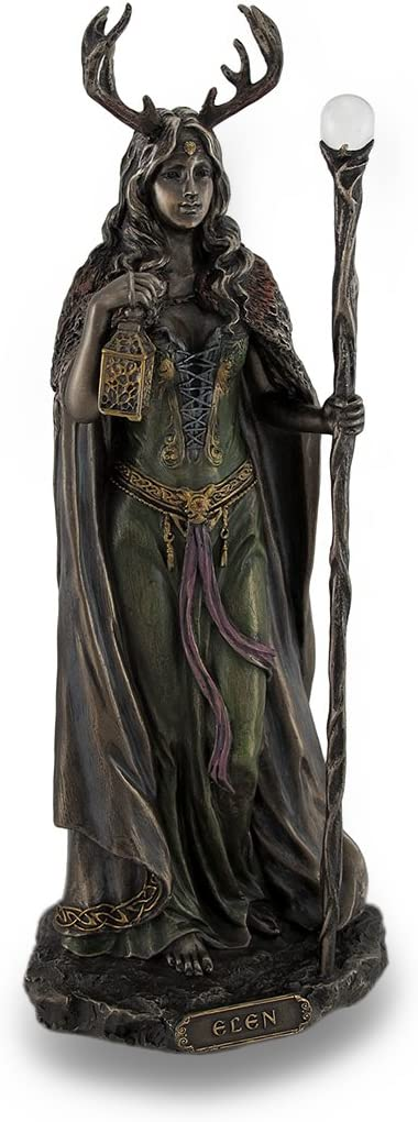 Veronese Design Elen of The Ways Bronze Finish Statue Pagan Goddess