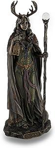 Veronese Design Elen of The Ways Bronze Finish Statue Pagan Goddess