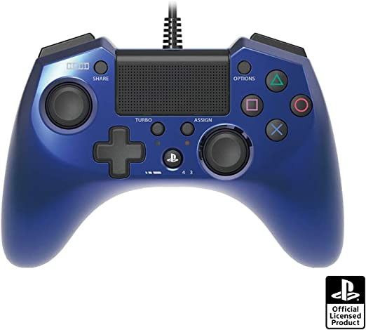Hori Pad 4 FPS Plus Wired Controller Gamepad para PS4 PS3 Azul ...