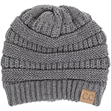 BYSUMMER C.C Warm Soft Cable Knit Skull Cap Slouchy Beanie Winter Hat