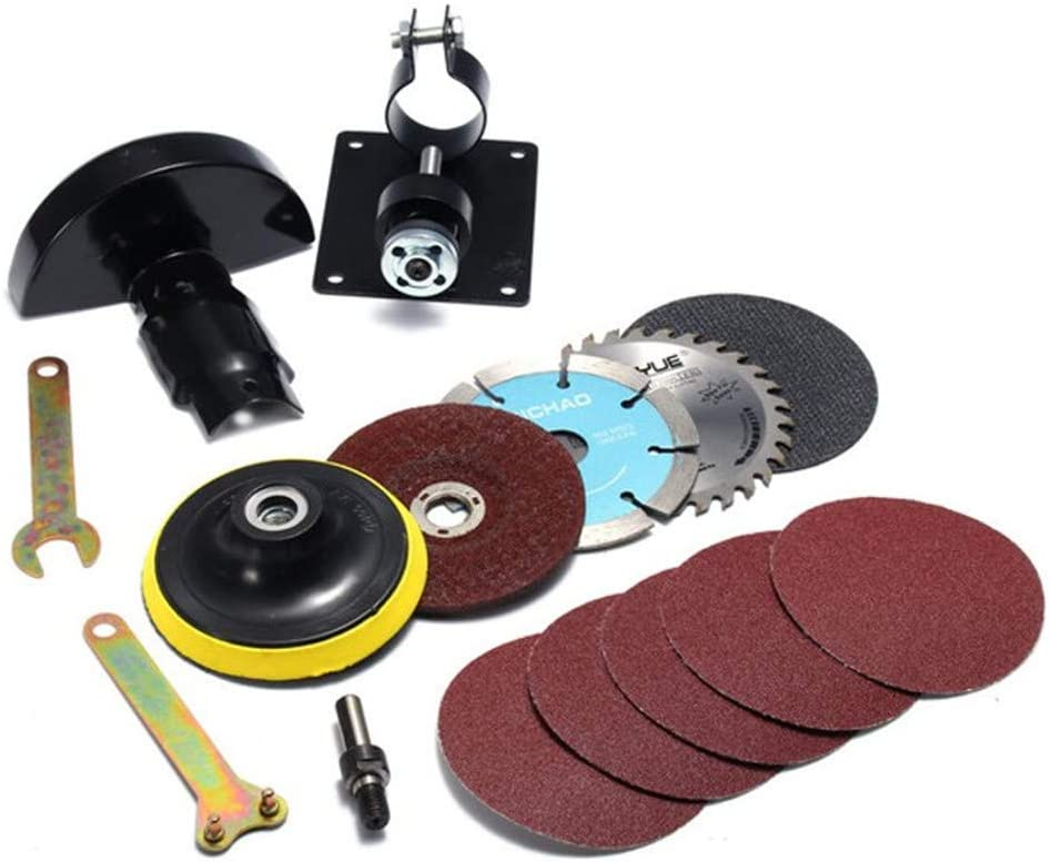 15Pcs Accessories Included Lengthened Protective Cover With Pole Cutting Seat Hand Drill Angle Mill For Angle Grinder