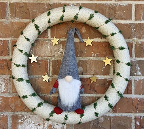 Handmade Christmas Gnome Ornaments For Men, Women & Kids | Well Crafted Luxury Figurines Set For Home Décor, New Year's Eve Parties, Personalized Gifts, Table Centerpieces, Garden & More- Grey]()