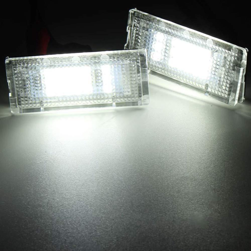 PolarLander 2pcs 6500K 18 LED SMD Matr/ícula Luces Bombillas L/ámparas para B-MW E46 4D 323i 325i 328i 99-03 330xi 330i 325xi 98-05
