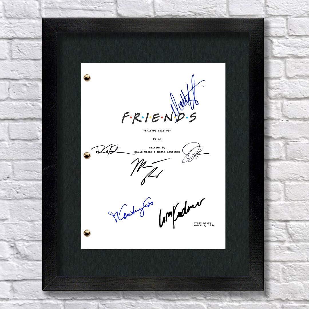 Friends TV Cast Autographed Signed Reprint 8.5x11 Script Unframed Jennifer Aniston Courtney Cox Matt Leblanc Matthew Perry David Schwimmer Lisa Kudrow