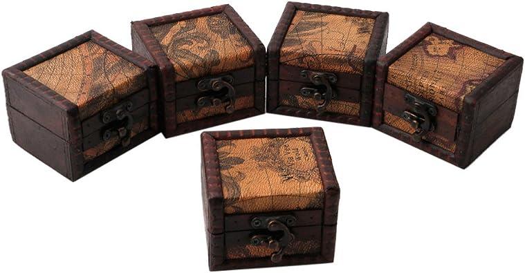 NKYSM Joyero Caja de Regalo Retro Europeo de Madera Caja de Almacenamiento Joyero Mapa para Collar Anillo Pendientes: Amazon.es: Joyería