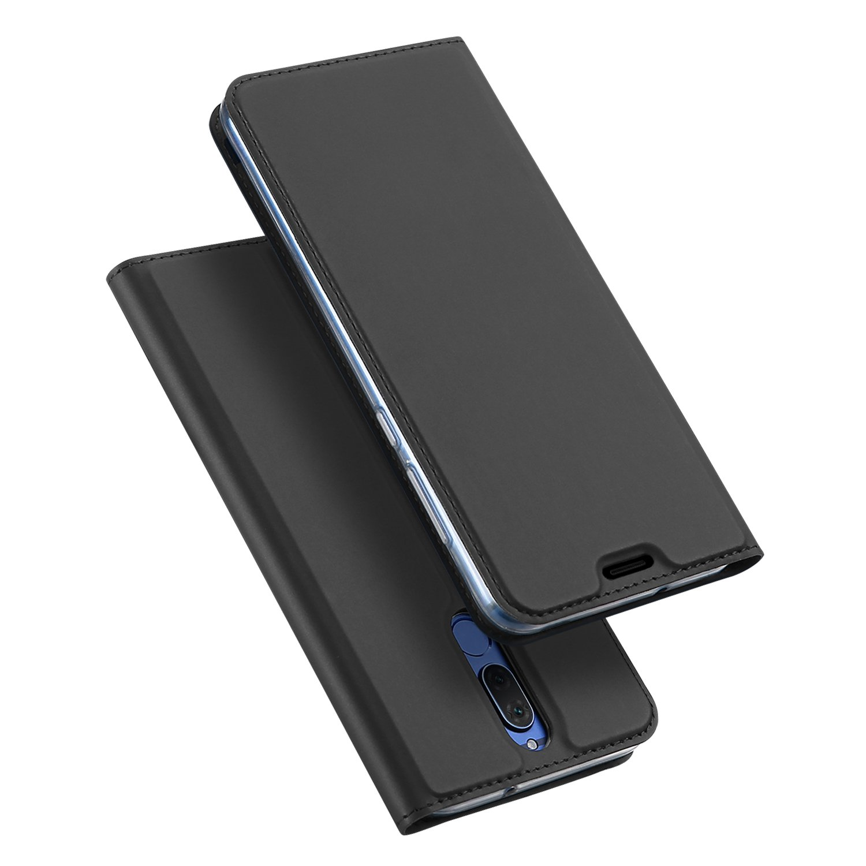 Huawei Mate 10 Lite, DUX DUCIS Skin Pro Series Ultra delgado en capas Dandy Case, soporte, cierre magnético, TPU parachoques, todo el cuerpo Huawei Mate 10 Lite Funda (gris)