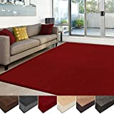 casa pura Sisal Rug | 100% Natural Fiber Area Rug | Non-Skid Eco-Friendly Throw Carpet for Entryway, Dining or Living Room | Various Colors and Sizes | Red - 6'x9'