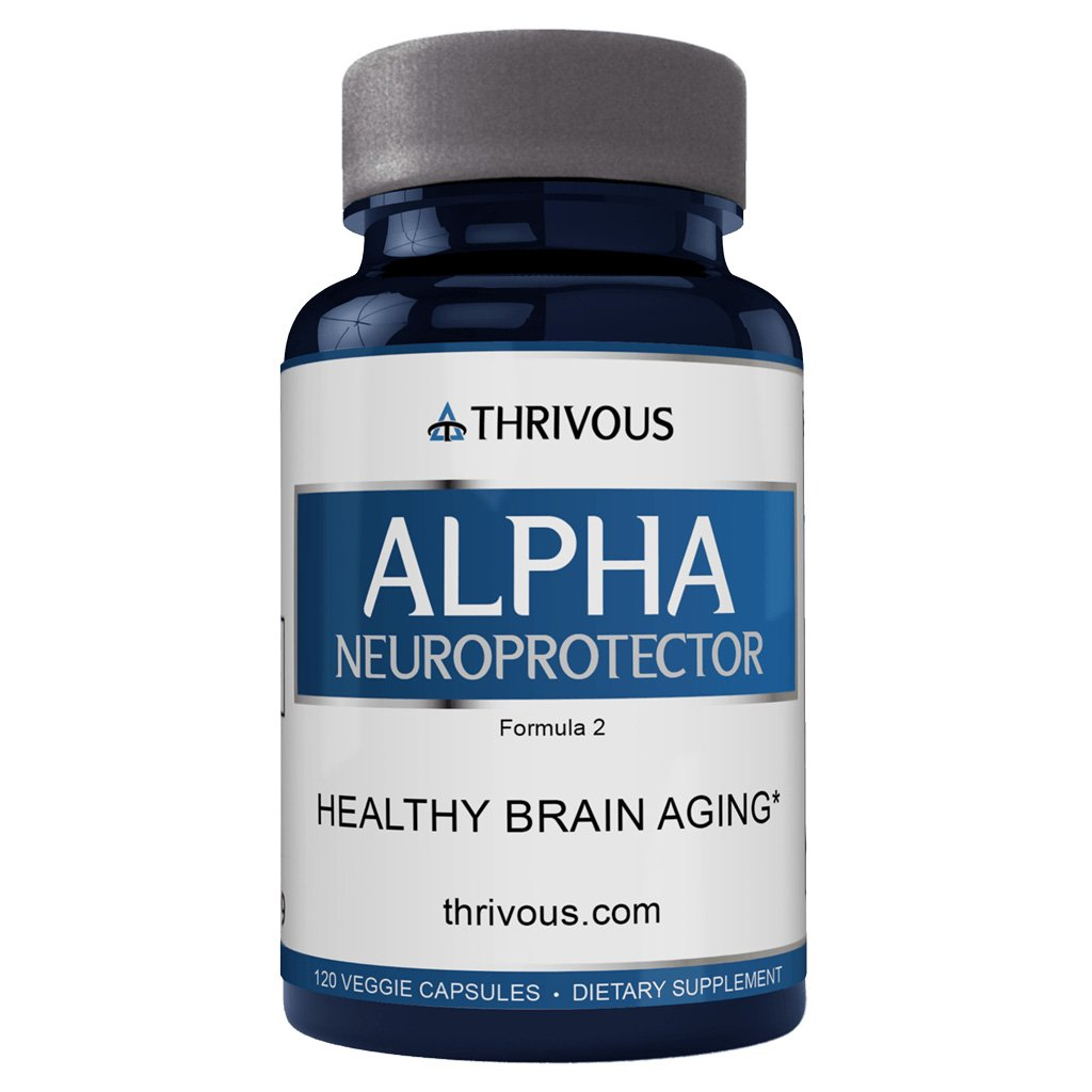 Thrivous Alpha Neuroprotector - Support Healthy Brain Function - Natural Anti-Aging Pill with Longevity Nutrients: Alpha GPC, Acetyl L Carnitine, R Alpha Lipoic Acid, Ginkgo Biloba, Phosphatidylserine
