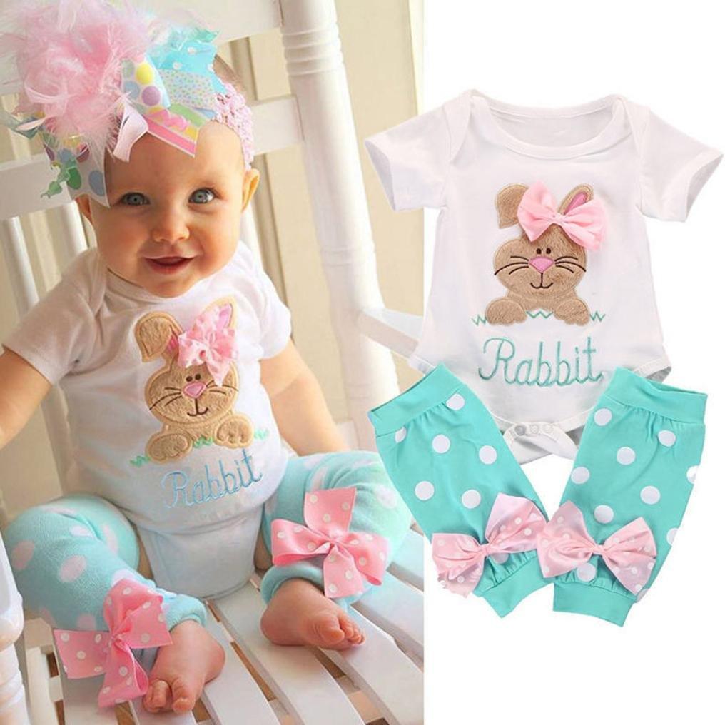 Matoen® 2pcs/Set Newborn Outfits, Toddler Baby Girls T-Shirt Tops+Leg Warmer