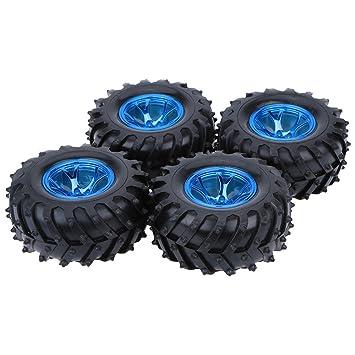 Goolsky 4pcs/Set 1/10 Monster Truck neumáticos neumáticos para HSP Traxxas Tamiya HPI Kyosho RC Modelos Coches: Amazon.es: Juguetes y juegos