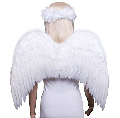 Jackson adult feather angel wings who love