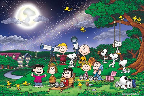 Peanuts Snoopy Under the Full Moon 1000 Pieces Jigsaw Puzzle (Finished Size: (Snoopy Puzzle)