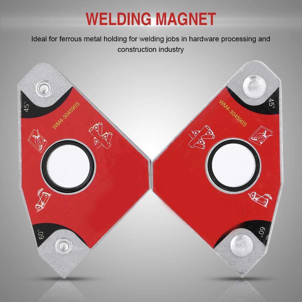 fo sa 2pcs Multi-Angle 30/°60/°45/°90/° Welding Magnets Holders Soldering Tools for Brazing Soldering and Welding Welding Holder Easy Handling