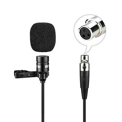Black Insignia Clip on Mic Made for Mobile Optimized for Voice Improved Audio
