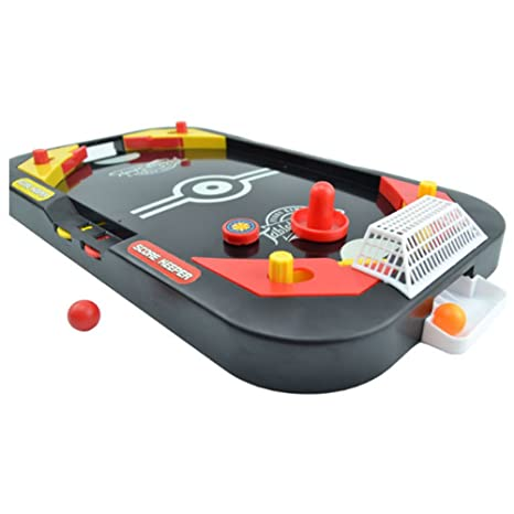 Amazoncom YUYUGO Desktop In Soccer And Knock Hockey Table Top - Classic air hockey table