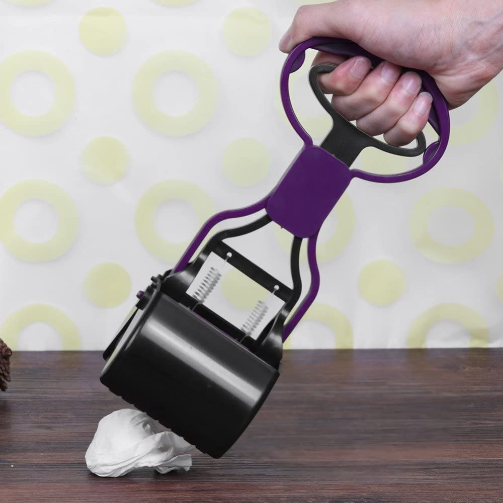 Pet Pooper Scooper Long Handle Jaw Poop Scoop Clean Pick Up Animal Waste Dog Puppy Cat Waste Picker Poop Bag Dispenser