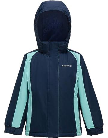 Girl s Waterproof Ski Jacket Kids Outdoor Windproof Fleece Lined Hooded Winter  Coat 58f163ca6