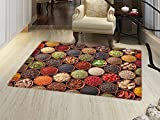 smallbeefly Kitchen Bath Mats Carpet Colorful Herbs and Spices...