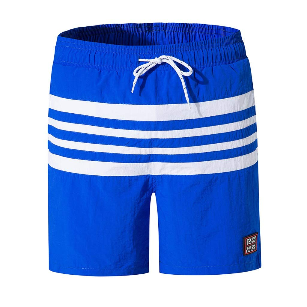 Men's Swim Trunks Slim Fit Quick Dry Short with Mesh Lining