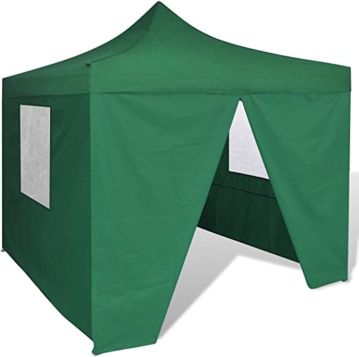 Festnight Carpa Plegable con Paredes Laterales para Jardín Camping 3x3M Cenador Pabellón Plegable Color Verde: Amazon.es: Hogar