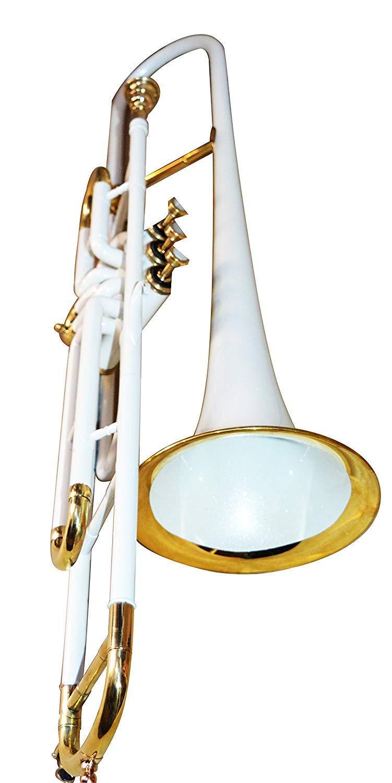 Nauticalmart Valve Trombone Bb White by NauticalMart