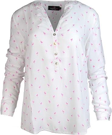 Zwillingsherz – Blusa con diseño de flamencos – Alta calidad para mujer – Camisa de manga larga – Camiseta – Sudadera – Suéter – Camisa para verano, otoño e invierno de Cashmere