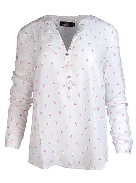 Zwillingsherz – Blusa con diseño de flamencos – Alta calidad para mujer –  Camisa de manga larga – Camiseta – Sudadera – Suéter – Camisa para verano 8bf1b56c73d9