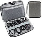 BAONA Data Wire Storage Organizer Electronics Accessories Cases with Wrist Straps for Various Cable, Earphone Wire, USB drive and Power bank -Grey