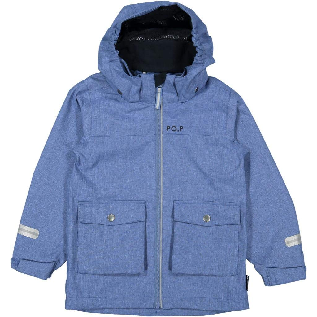 Polarn O. Pyret Outback Shell Jacket (2-6YRS) - Blue Sapphire/5-6 Years