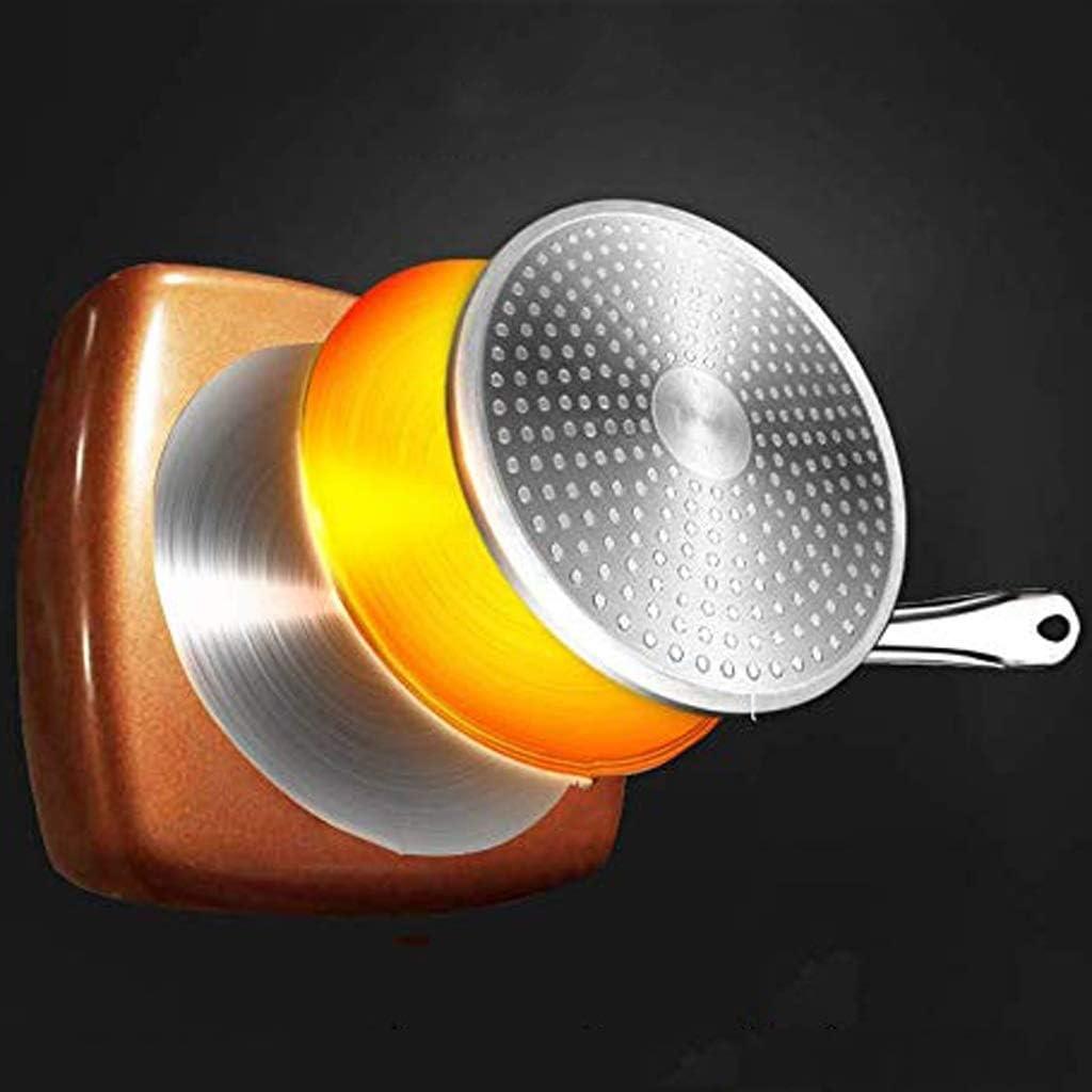 Pot Pots de cuisson Poêles Poêle à frire Poêle à gaz Poêle à gaz Poêle universelle à fond anti-adhésif Poêle à frire à induction (Color : No Cover) Cover