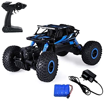 Mousepotato 1:18 4Wd Rally Car Rock Crawler Off Road Race Monster Truck Remote Controlled Cars & Trucks at amazon
