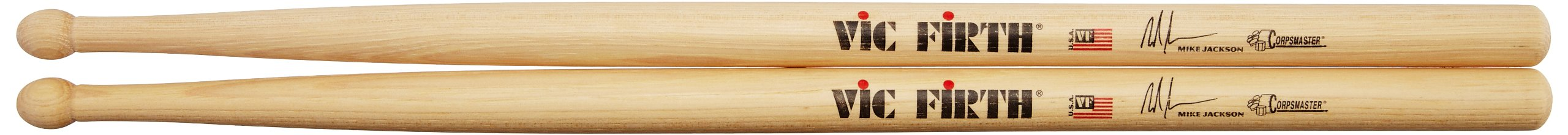 Vic Firth Corpsmaster Signature Snare Sticks - Mike Jackson
