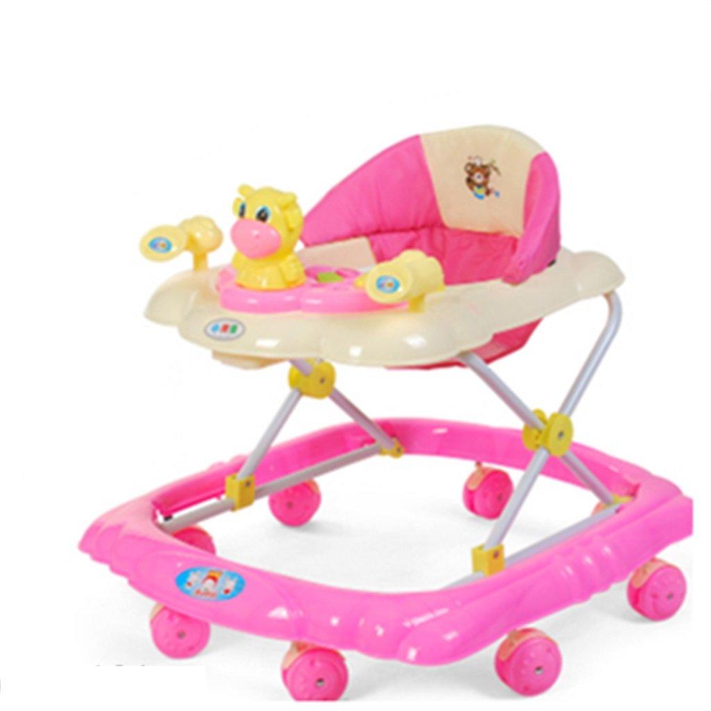 HAIZHEN マウンテンバイク ABSのベビーウォーカー反衝突の足のアンチロールオーバー音楽ダブルブレーキ5つの速度調節可能な6-18ヶ月の赤ちゃんキャリッジ71 * 59 * 56センチメートル 新生児 B07DMNJJVK ピンク ぴんく ピンク ぴんく
