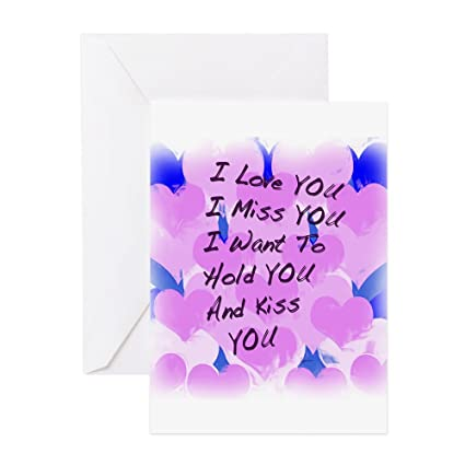 Amazon cafepress i love u i miss u greeting card note cafepress i love u i miss u greeting card note card birthday card m4hsunfo