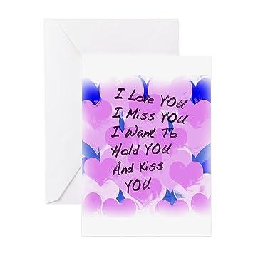 Cafepress i love u i miss u greeting card note card birthday cafepress i love u i miss u greeting card note card birthday card m4hsunfo