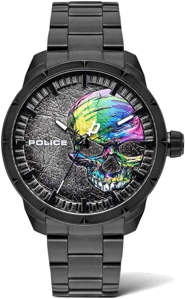 Police Reloj Analógico para Unisex Adultos de Cuarzo con Correa en Acero Inoxidable PL15715JSB.78M