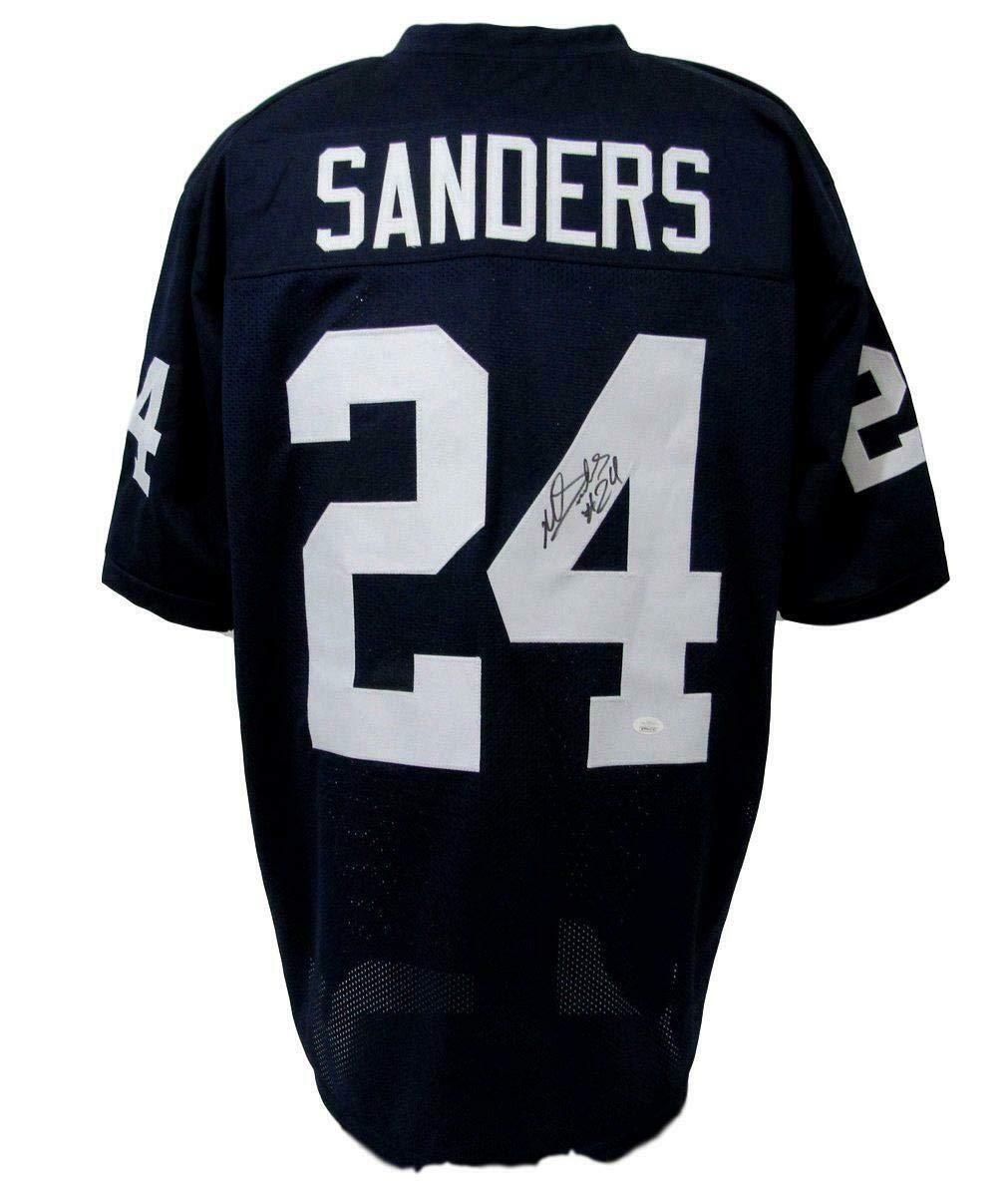 first rate 07ee7 841de Miles Sanders Signed Jersey - PSU Custom Blue 143023 - JSA ...
