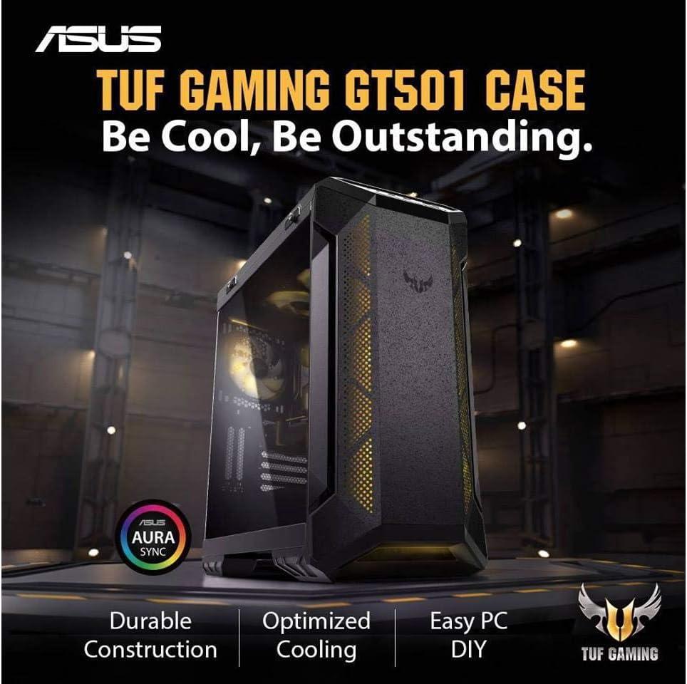 ASUS TUF GT501 Intel 8-Core i7-9700K 3.6GHz - 2TB 7200RPM + 1TB NVMe SSD - 64GB DDR4 SDRAM - GeForce RTX 2070 8GB GDDR6 Graphics - 850W - Windows 10 Gaming Desktop