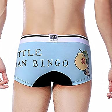 HP95 TM Mens Cotton Underwear Cute Boxer Briefs Bulge Pouch Soft Underpants XXL, Green