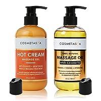 Anti-Cellulite Massage Oil & Hot Cream - 100% Natural Cellulite Treatment with Gel...
