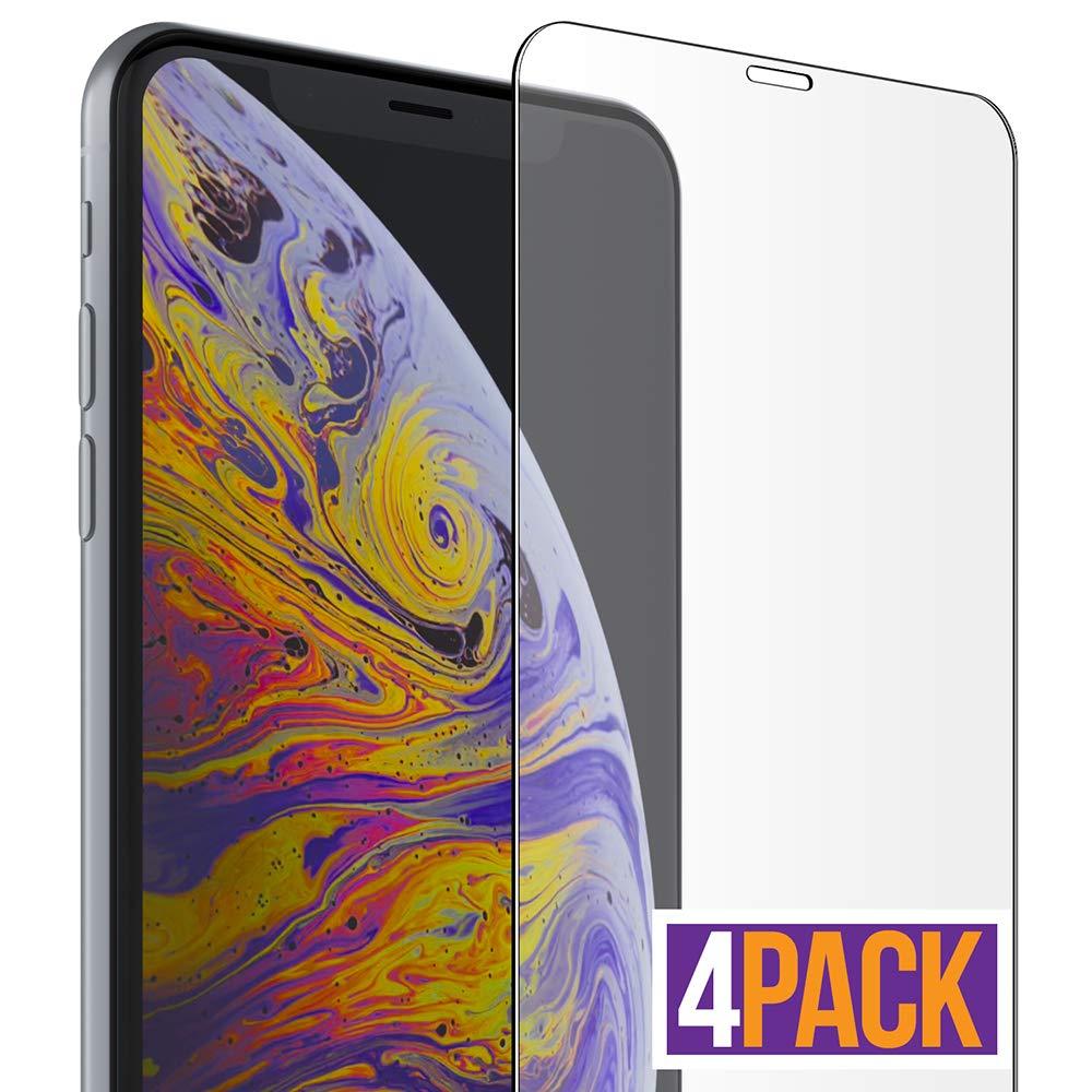 Vidrio Templado Para iPhone Xs Max [4 Un.] Flexgear