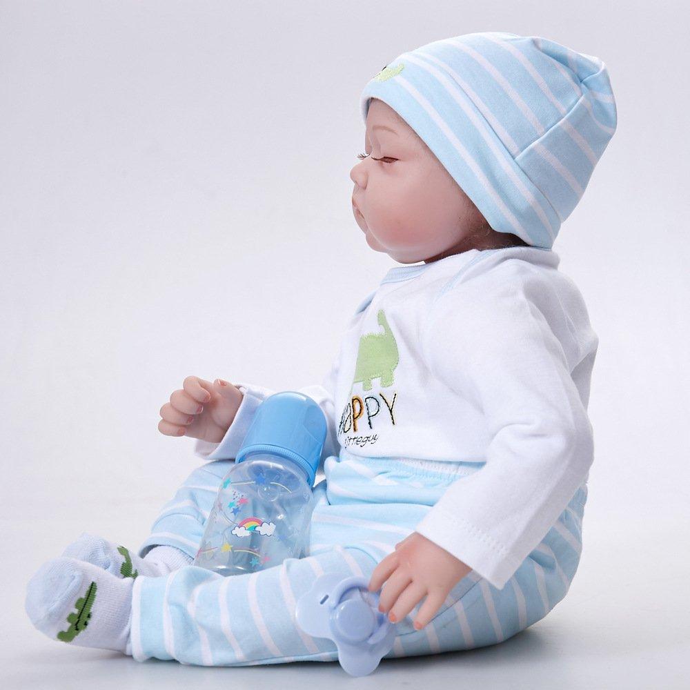 LIJUN Simulación Baby Rebirth Doll 55cm Boy Silicone Toy ...