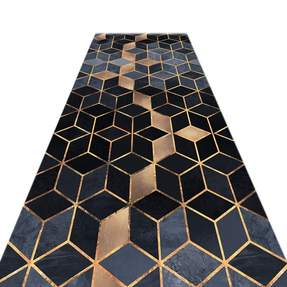 JIAJUAN Läufer Teppiche Flur Weich Rutschfest Wohnzimmer Küche Tür Eng Passage Matte, 7mm, 2 Farben, Mehrere Längen, Anpassbar (Farbe : B, größe : 0.9x5m)