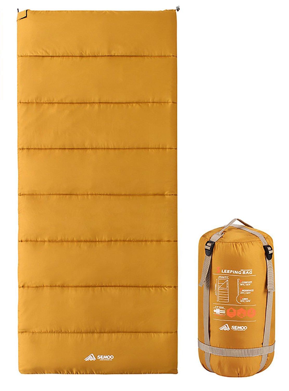 Semoo techo saco de dormir - ligero compacto Saco de dormir ideal para Primavera y Verano - 190 x 84 cm/1kg - Varios colores a elegir, Coyote Braun: ...
