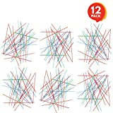 Gamie Plastic Pick-up Stick Sets (Pack of 12) | Each Set Separately Packed with Instructions | Great School Carnival Prize & Party Favors for Boys and Girls
