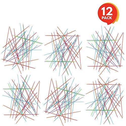 Gamie Plastic Pick-up Stick Sets (Pack of 12) | Each Set Separately Packed with Instructions | Great School Carnival Prize & Party Favors for Boys and Girls]()